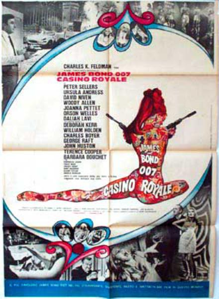 James Bond 007 Casino Royale Italian Release Vintage Original Movie Poster