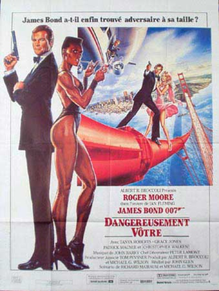 James Bond 007 A View To a Kill Original Vintage Movie Poster French Release