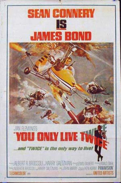 James Bond Original Vintage Movie Poster You Only Live Twice