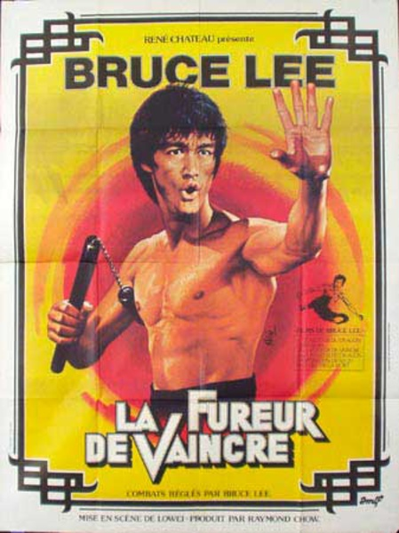 Bruce Lee Fureur Original Vintage Movie Poster French Release