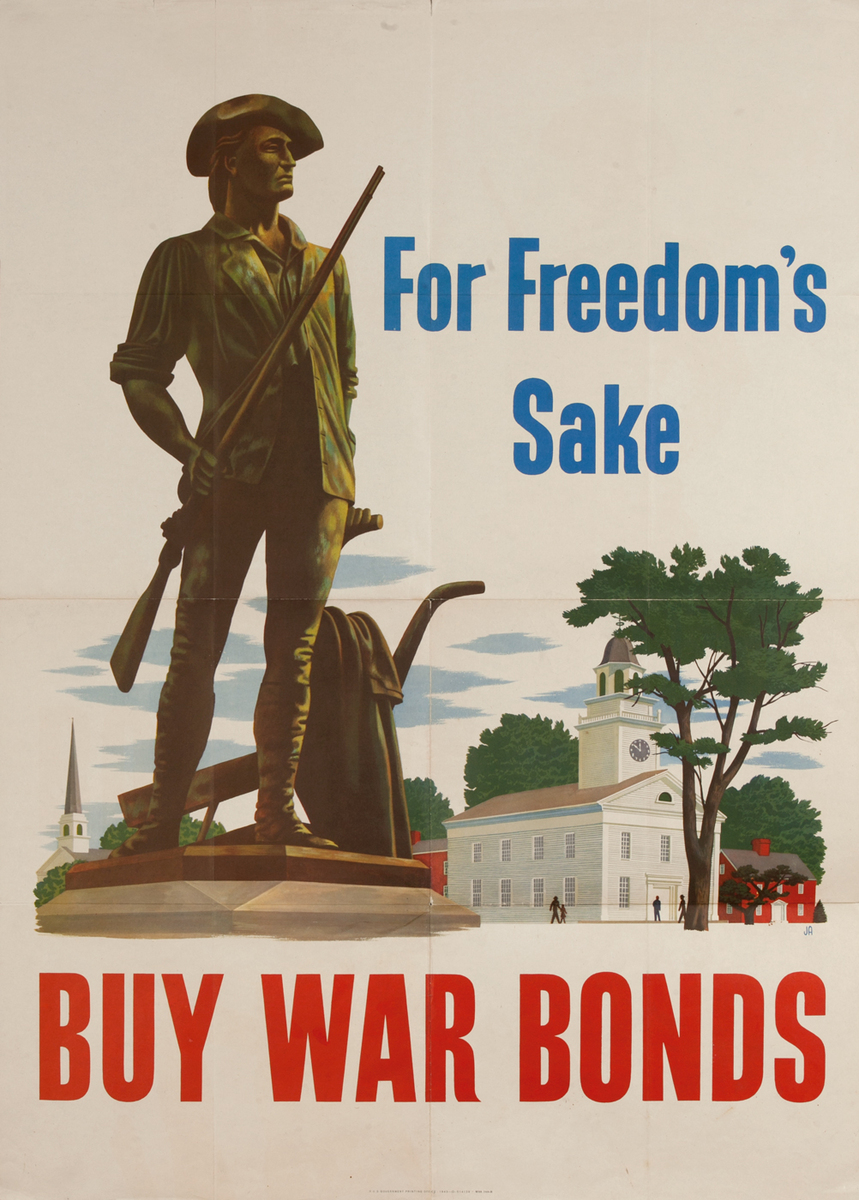 For Freedom's Sake, Buy War Bonds, WWII Poster