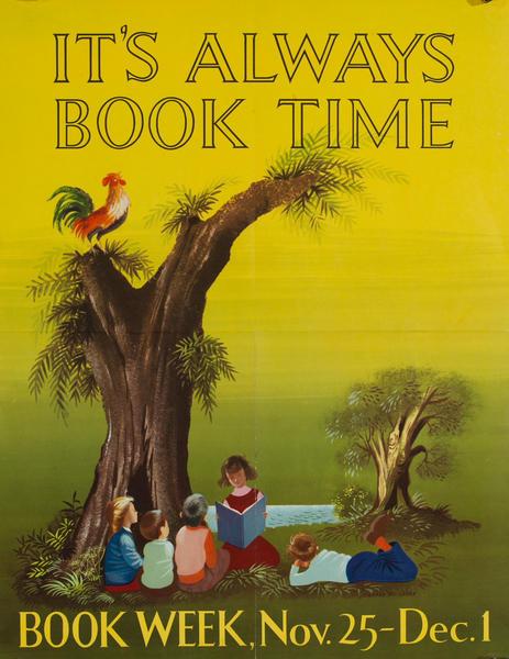 Children's Book Week Poster, It's Always Book Time
