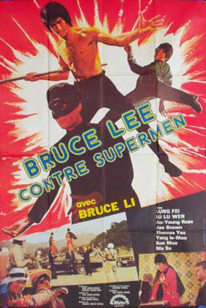 Bruce Lee Supermen Original Vintage Movie Poster  French Release
