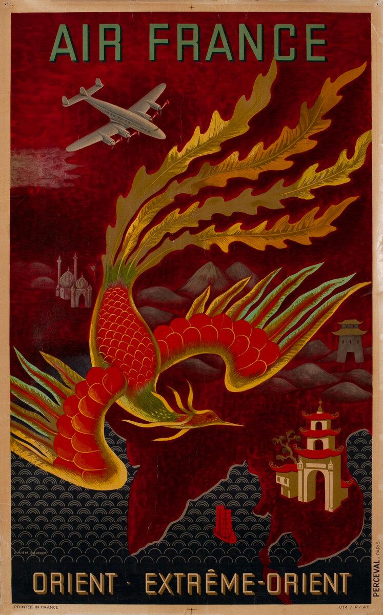 Air France Near East - Far East Poster Firebird