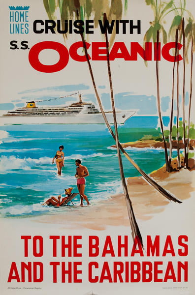 Home Line Cruise With S.S. Oceanic To The Bahamas and the Caribbean