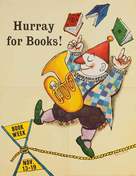 Children's Book Week Poster, Hurray For Books