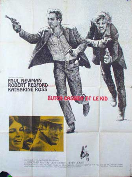 Butch Cassidy and the Sundance Kid Original Vintage Movie Poster  French Release