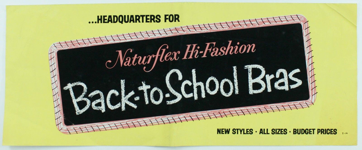 Back to School Bras, Naturflex Hi Fashion