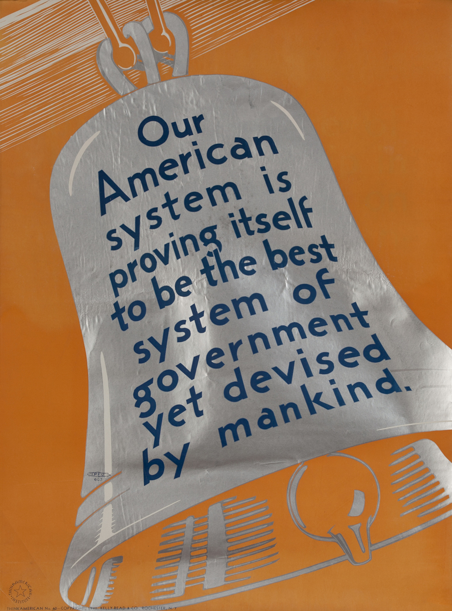 Our American System, Think American Work Motivation Poster