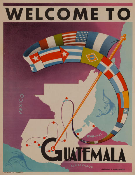 Welcome to Guatemala<br>National Tourist Board Poster