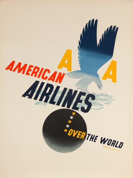AA American Airlines Over the World