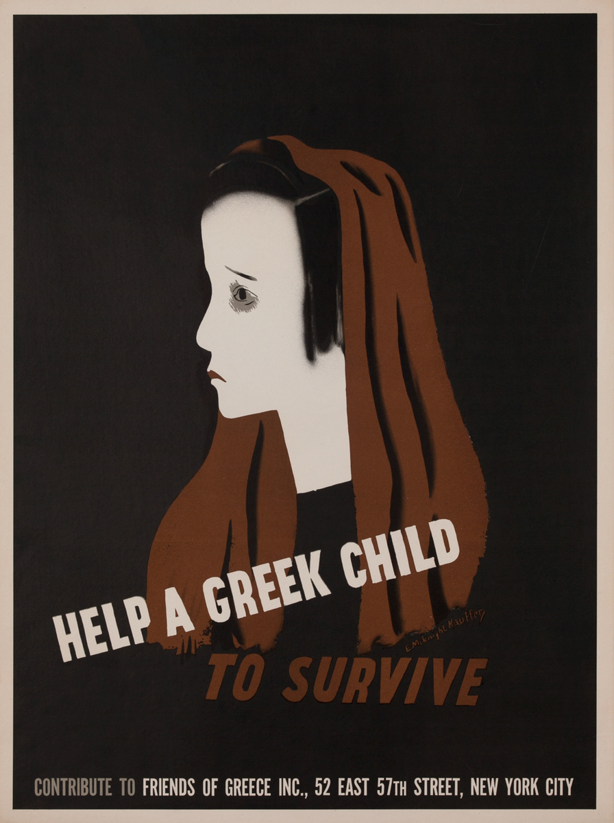 Help a Greek Child to Survive, WWII Poster