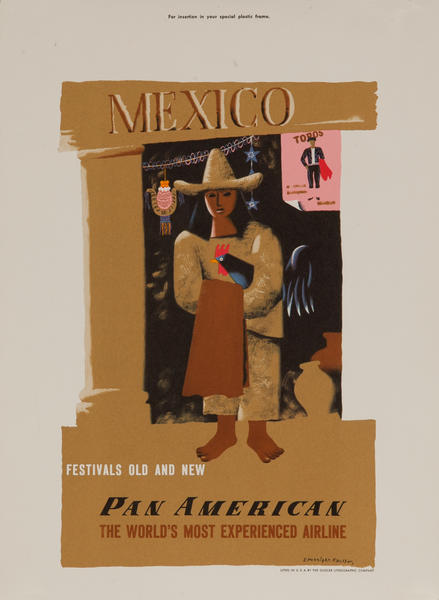 Pan Am Travel Poster Mexico Kauffer, small size