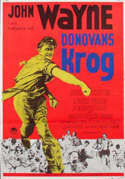 Donovans Reef Original Vintage Movie Poster Swedish Release