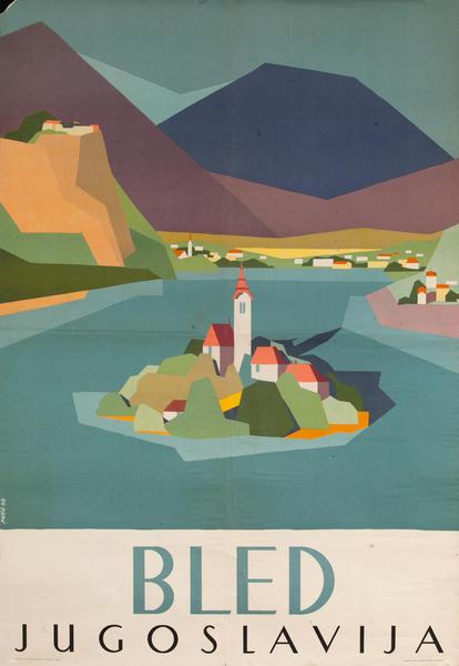 Yugoslavia Bled Jugoslavija Travel Poster