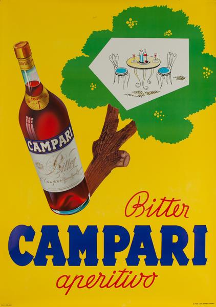Bitter Campari Aperitivo, Swiss Advertising Poster