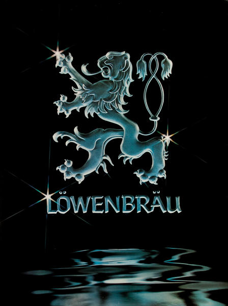 Lowenbrau Beer Poster Lion