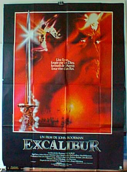 Excalibur French Release Original Movie Poster