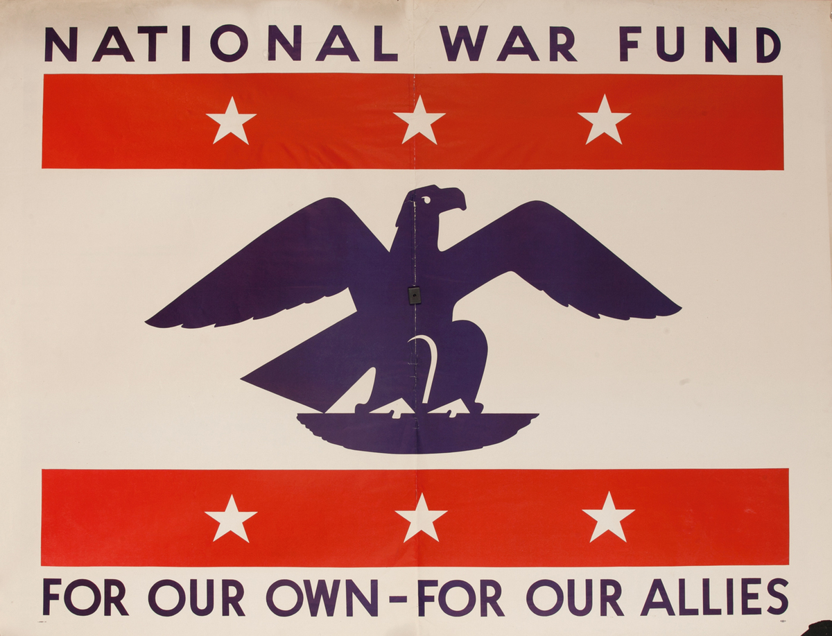 National War Fund, For Our Own - For Our Allies