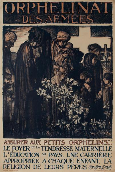 Orphelinat des armée, British WWI Poster, cemetery