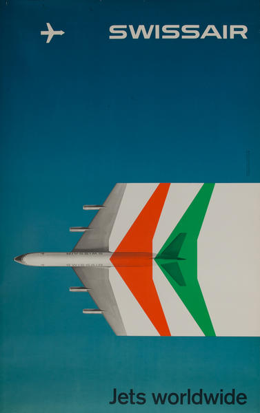 Swissair Jets Worldwide, Travel Poster