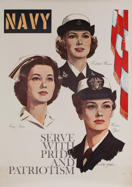 Navy Serve With Pride and Patriotism, Vietnam War Women's Recruitiing Poster
