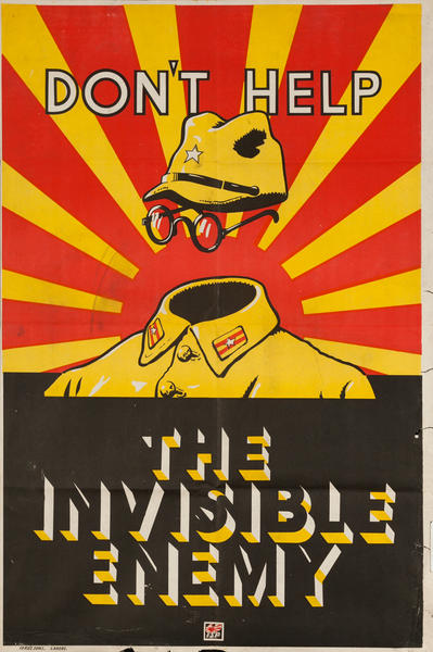 Don't Help the Invisible Enemy, Indian WWII Poster
