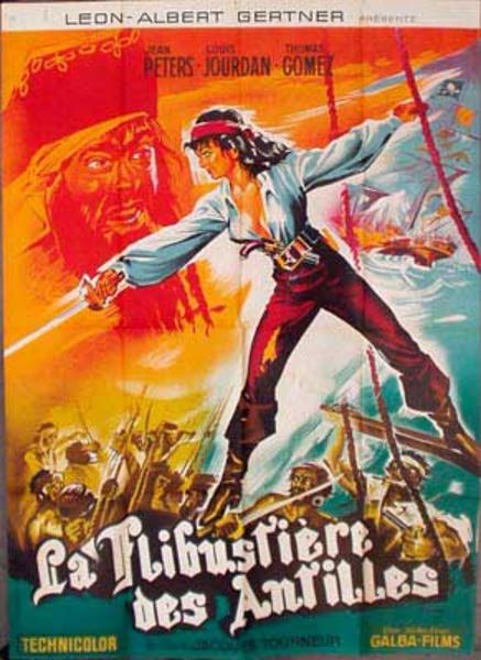 La Flibustiere Des Antilles French Pirate Vintage Original Movie Poster