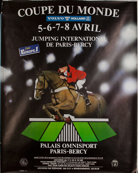 Coupe de Monde, French Horse Jumping Competition Poster