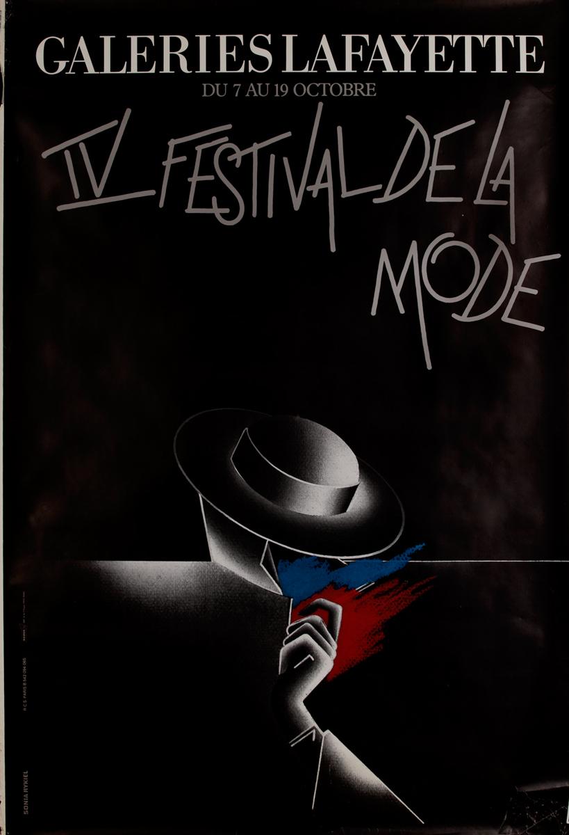 Galeries Lafayette IV Festival De La Mode French Poster