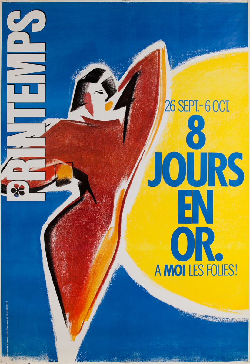 Printemps 8 Jours En Or, French Advertising Poster