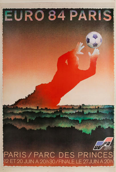 Euro 84 Paris Pacr des Princes, French Football Soccer Poster