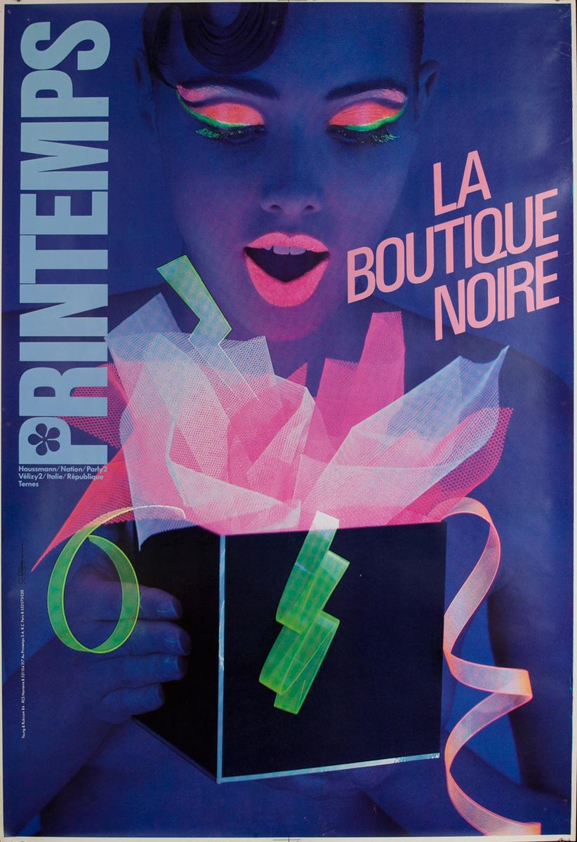 Printemps, La Boutique Noire, French Advertising Poster
