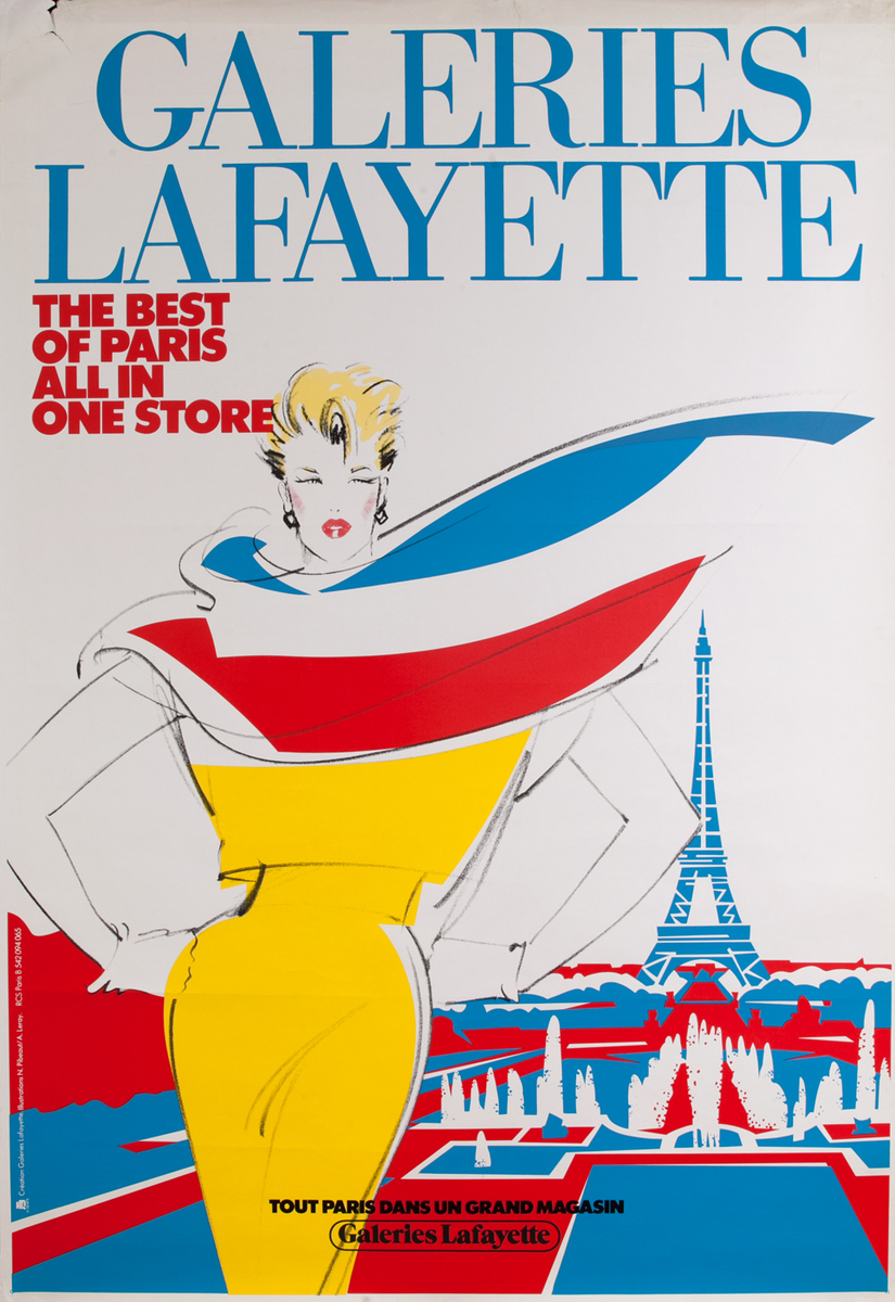 Galeries Lafayette The Best of Paris, French Advertising Poster