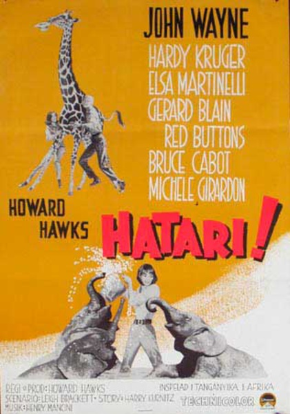 Hatari Original Vintage Movie Poster Swedish Release
