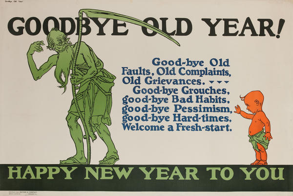 Goodbye Old Year, Mather Work Incentive Poster
