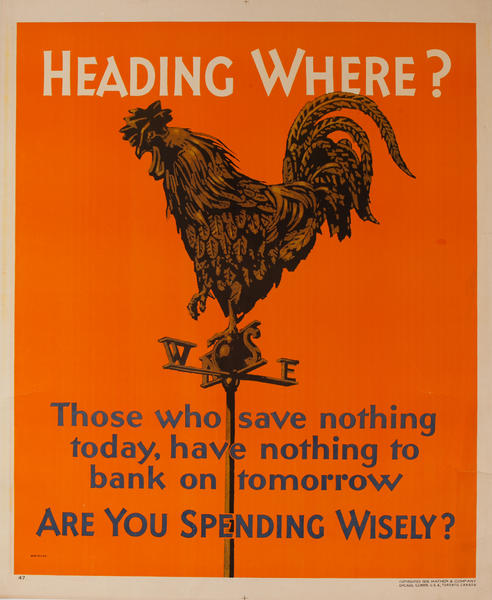 Heading Where? Are You Spending Wisely? Mather Work Incentive Poster
