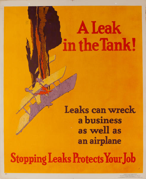 A leak in the Tank - Mather Work Incentive Poster