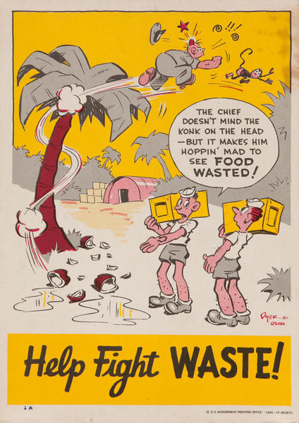Help Fight Waste<br>WWII Conservation Poster