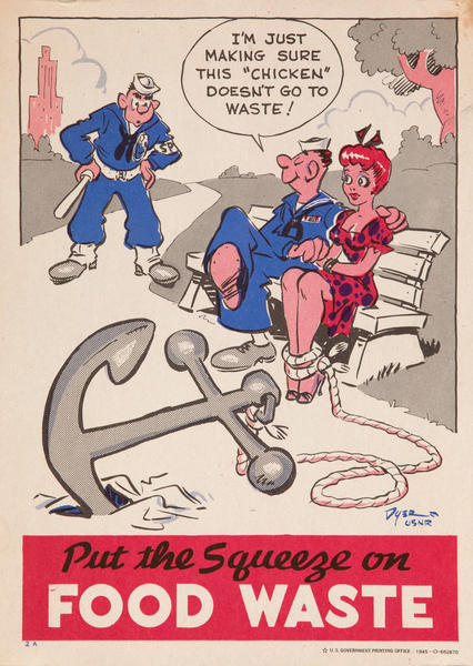 Put the Squeeze on Food Waste<br>WWII Conservation Poster