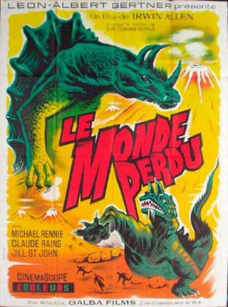 Lost World Original Vintage Movie Poster French Release