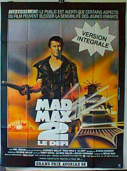 Mad Max 2 French Release Original Movie Poster
