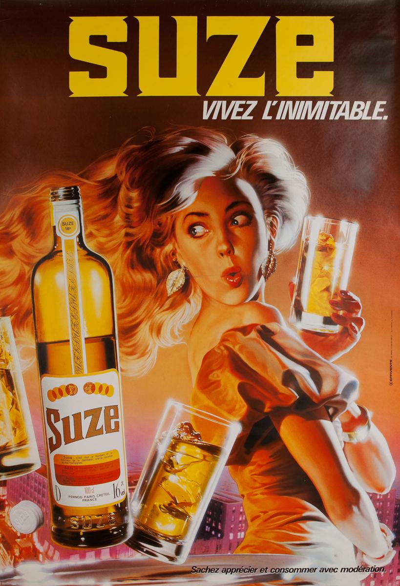 Suze Vivez l'Inimitable Pernot Advertising Poster