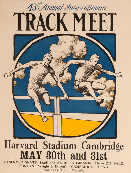 43rd Annual Inter-collegiate Track Meet, Harvard Stadium Cambridge