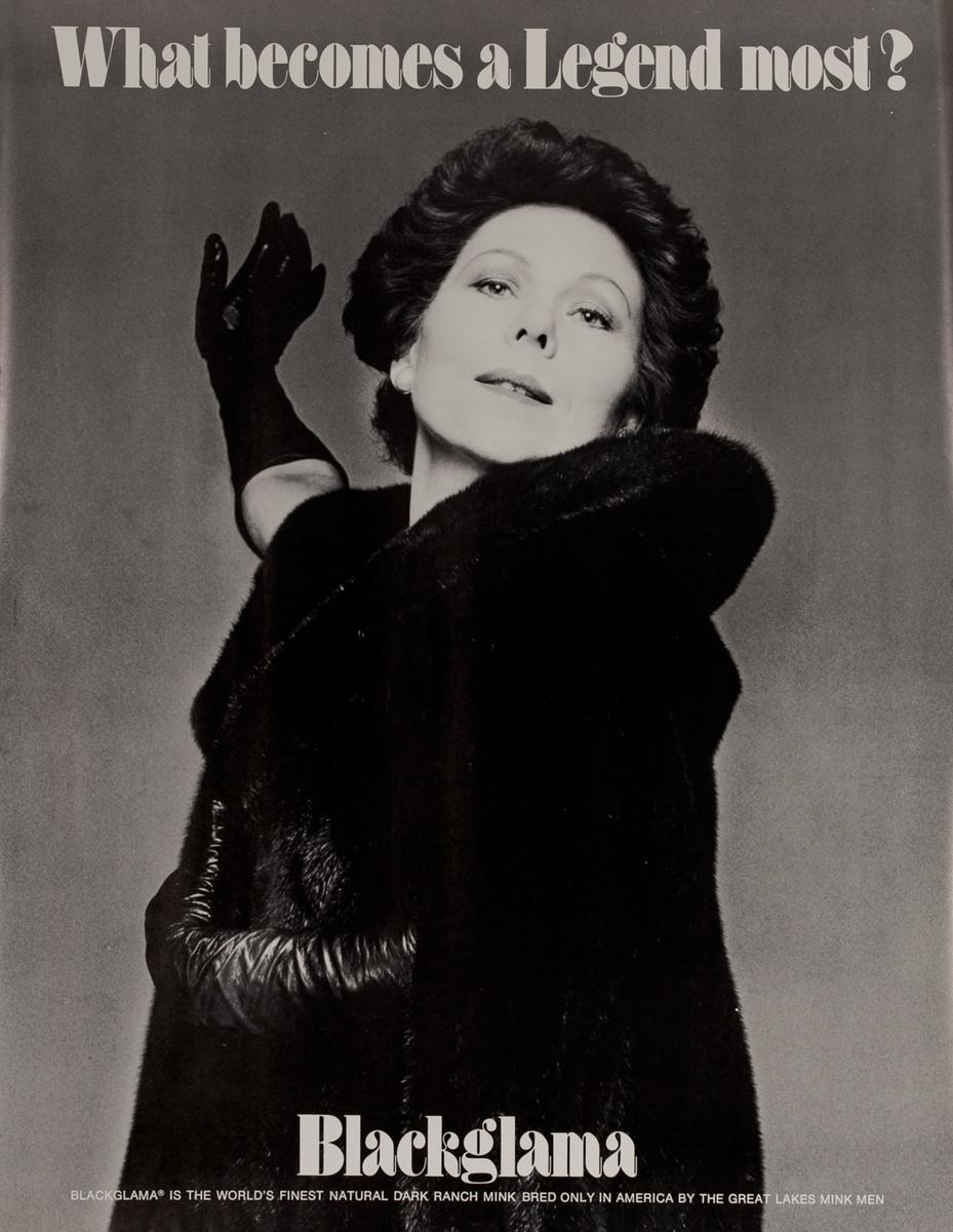 Renata Scotto, Blackglama Fur What Becomes a Legend Most? Original Advertising Poster