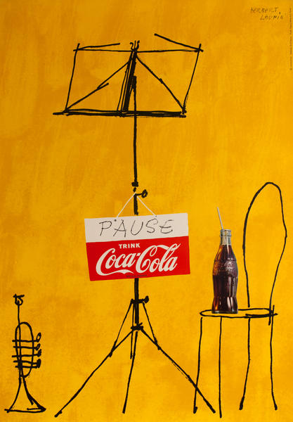 Pause - Trink Coca Cola, Swiss Advertising Poster