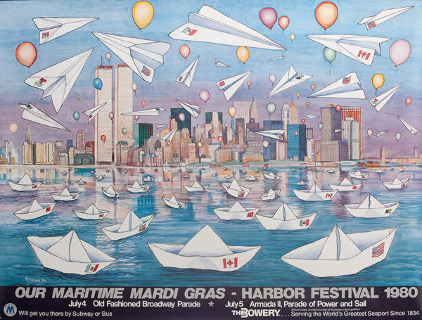 New York City (NYC) Harbor Festival Poster 1980