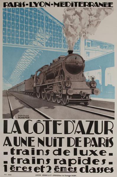 La Cote d'Azur, PLM Travel Poster