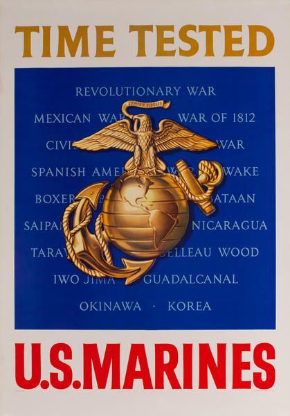 Time Tested, U.S Marines, Recruiting Poster