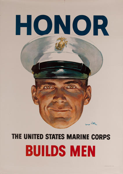 Honor Builds Men, The United States Marine Corps,  Vietnam War Recruiting Poster